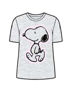 Camiseta Snoopy Gris adulto mujer