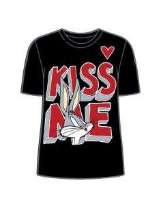 Camiseta Kiss Bugs Bunny Looney Tunes adulto mujer
