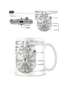 Taza Millennium Falcon Sketch Star Wars