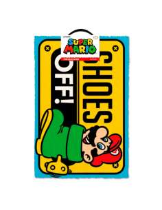 Felpudo Shoes Off Super Mario Nintendo