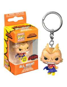 Llavero Pocket POP My Hero Academia All Might Silver Age Glow in the Dark Exclusive