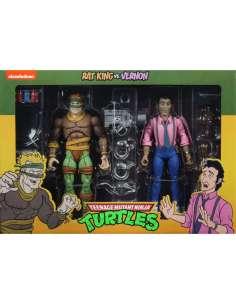 Pack 2 figuras Rat King y Vernon Tortugas Ninja 18cm