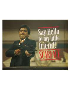 Poster cristal Say Hello Scarface