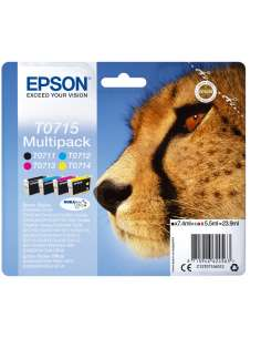 TINTA EPSON T0715 MULTIPACK 4 DX4000 5000 6000 7000F