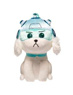 Peluche Rick Morty Snowball with Helmet soft