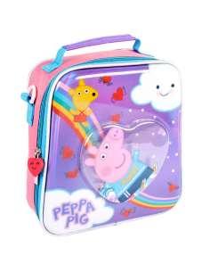 Bolsa portameriendas confetti Peppa Pig