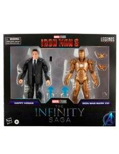 Set 2 figuras Happy Hogan and Iron Man Mark XXI Iron Man 3 The Infinity Saga Marvel 15cm