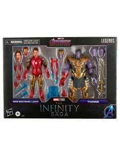 Set 2 figuras Iron Man Mark LXXXV y Thanos Vengadores Avengers The Infinity Saga Marvel 15cm