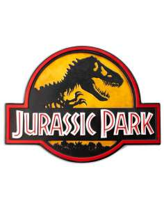 Cartel metal Logo Jurassic Park