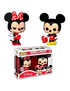 Set 2 figuras POP Disney Valentine Mickey Minnie Exclusive