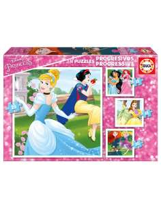 Puzzle Progresivo Princesas Disney 12 16 20 25pzs