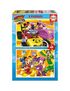 Puzzle Mickey and the Roadster Racers Disney 2x48pzs