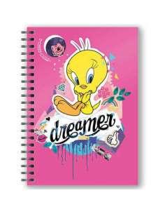 Cuaderno A5 3D Piolin Looney Tunes