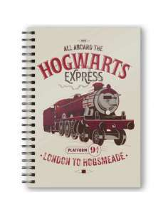 Cuaderno A5 3D All Aboard The Hogwarts Express Harry Potter