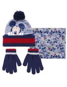Conjunto gorro guantes braga cuello Mickey Disney