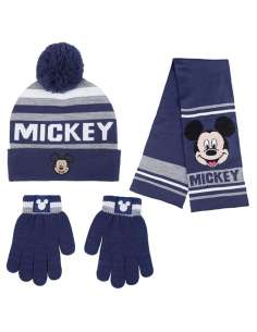 Conjunto gorro guantes bufanda Mickey Disney