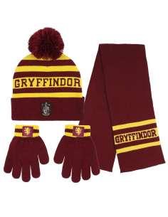 Conjunto gorro guantes bufanda Gryffindor Harry Potter