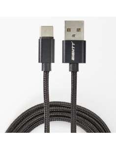 CABLE EIGHTT USB 20 A TYPE C 1M TRENZADO DE NYLON NEGRO
