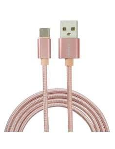 CABLE EIGHTT USB 20 A TYPE C 1M TRENZADO DE NYLON ROSA
