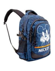 Mochila Blue Mickey Disney 44cm