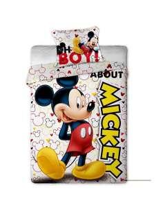 Funda nordica Mickey Disney cama 90cm microfibra