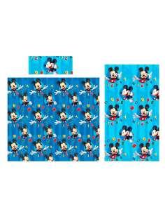Juego sabanas Mickey Disney microfibra 105cm