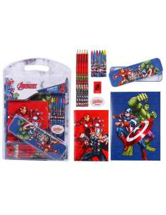 Set papeleria Vengadores Avengers Marvel