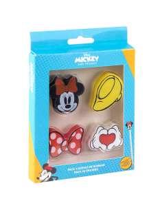Pack 4 gomas de borrar Minnie Disney