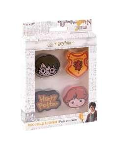 Pack 4 gomas de borrar Harry Potter