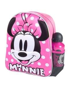 Mochila 3D Minnie Disney cantimplora 31cm