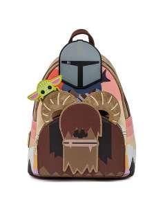 Mochila Mandalorian Bantha Ride Star Wars Loungefly 26cm