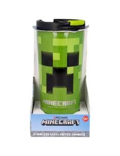 Vaso termo acero inoxidable Minecraft 425ml