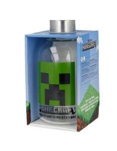 Botella cristal Minecraft 620ml