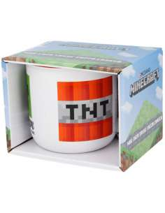 Taza ceramica Minecraft en caja 400ml