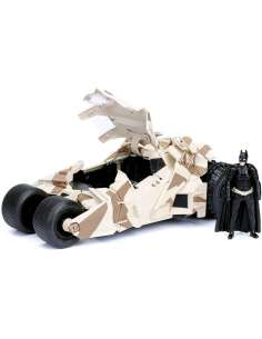 Set figura coche Batmovil metal camuflaje El Caballero Oscuro DC Comics