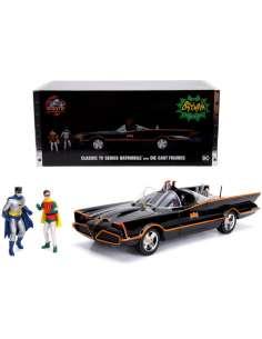 Set figura coche Batmovil Metal 1966 Batman y Robin DC Comics