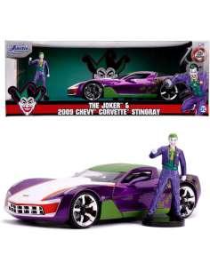 Set figura coche Chevy Corvette Stingray 2009 Joker DC comics