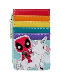 Tarjetero Unicorn Rainbow Deadpool 30th Anniversary Marvel Loungefly