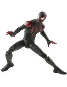 Figura Miles Morales Spiderman Black Suit Game Verse Marvel 15cm