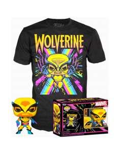 Set figura POP Tee Marvel Wolverine Black Light