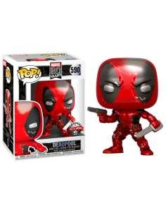 Figura POP Marvel 80th First Appearance Deadpool Metallic Exclusive