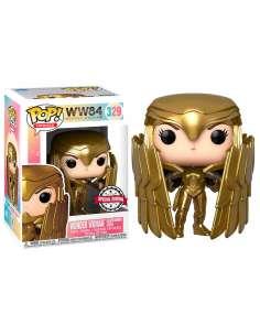Figura POP DC Comics Wonder Woman 84 Wonder Woman Gold Shield Metallic Exclusive