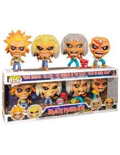 Set 4 figuras Iron Maiden Eddie Glow in the Dark Exclusive