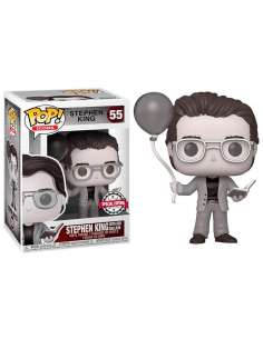 Figura POP Stephen King with Red Balloon Black and White Exclusive