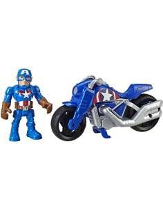 Figura Capitan America Moto de la Victoria Marvel 12cm
