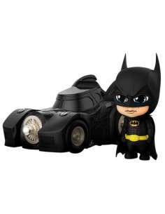 Figura Cosbaby Batman with Batmobile Batman 1989 10cm