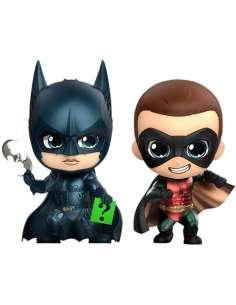Pack figuras Cosbaby Batman Robin Batman DC Comics 10cm